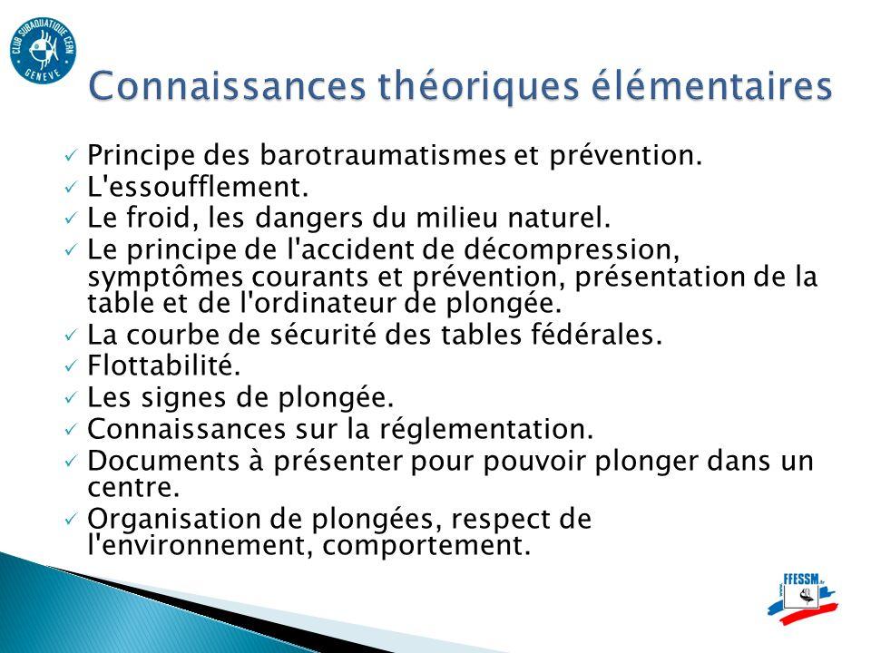 Connaissances théoriques élémentaires