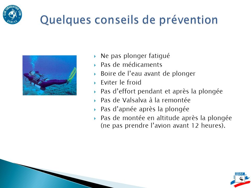 Quelques conseils de prévention