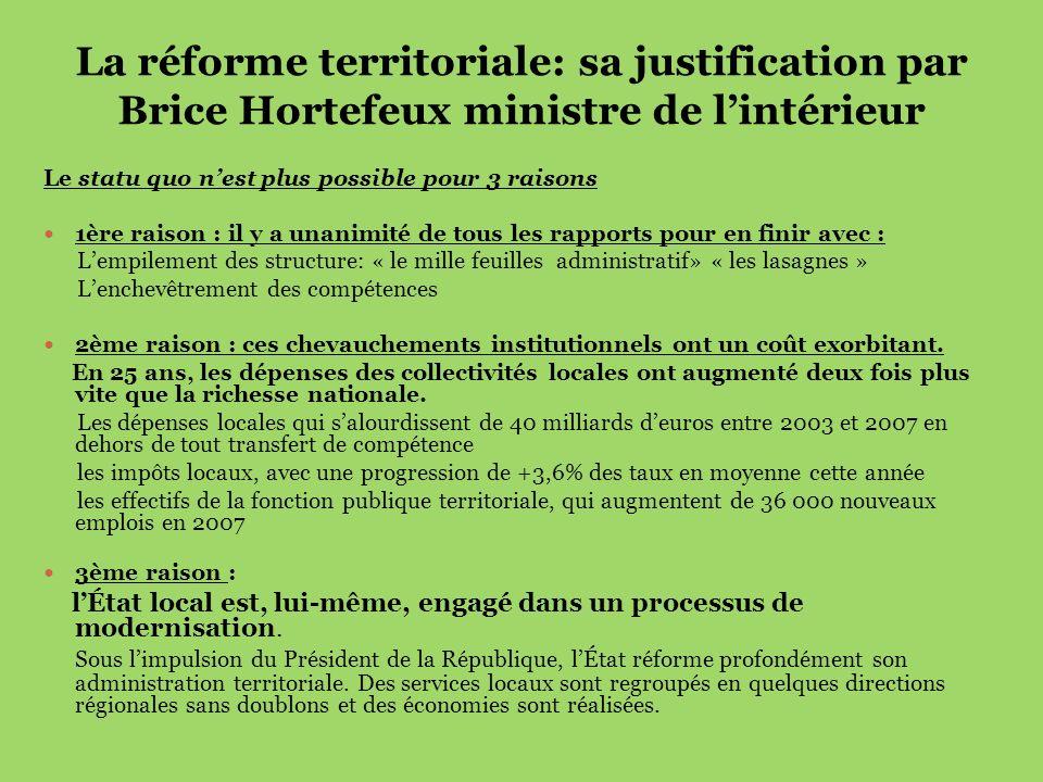La réforme territoriale: sa justification par Brice Hortefeux ministre de l'intérieur