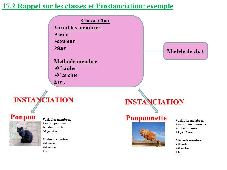 17.2 Rappel sur les classes et l'instanciation: exemple