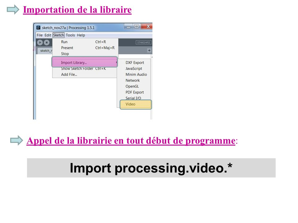Import processing.video.*