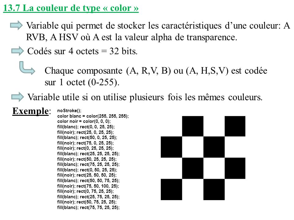 13.7 La couleur de type « color »