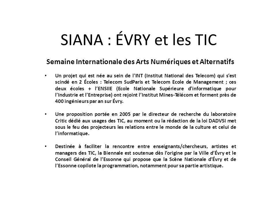 Semaine Internationale des Arts Numériques et Alternatifs
