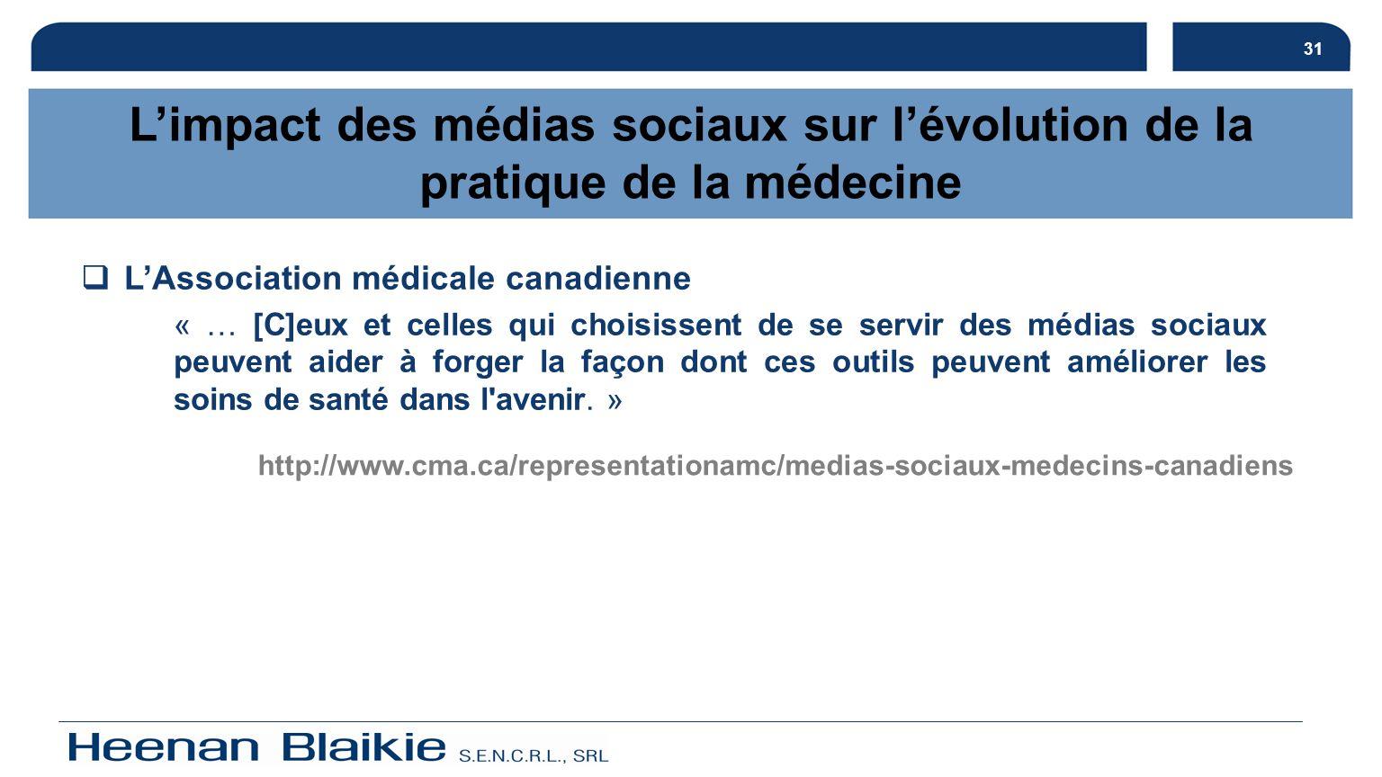 L'impact des médias sociaux sur l'évolution de la pratique de la médecine