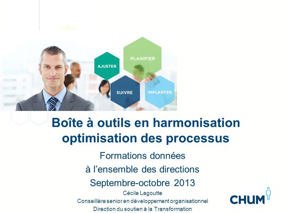Boîte à outils en harmonisation optimisation des processus