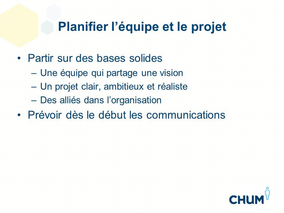Planifier l'équipe et le projet