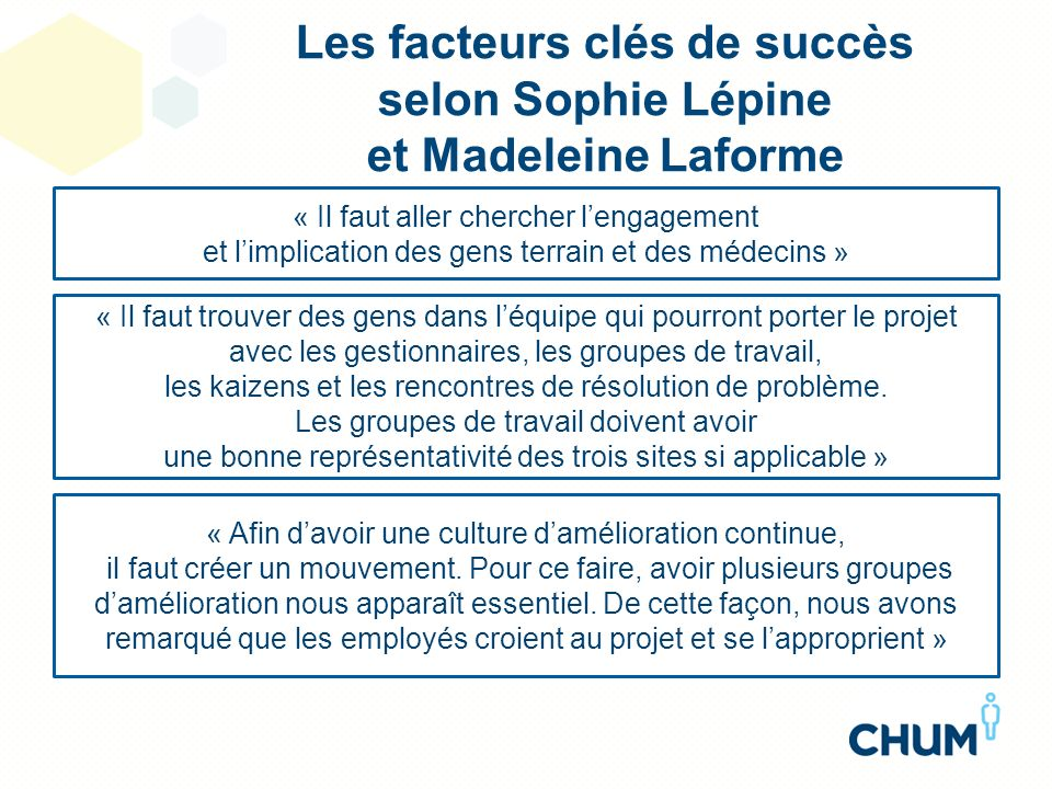 Les facteurs clés de succès selon Sophie Lépine et Madeleine Laforme