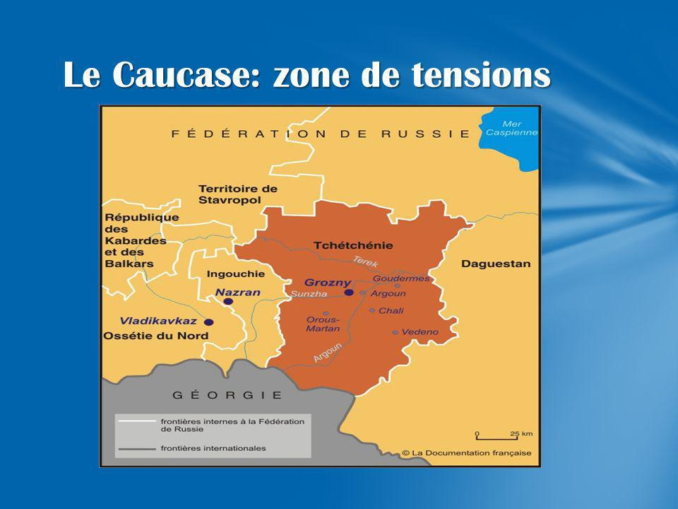 Le Caucase: zone de tensions