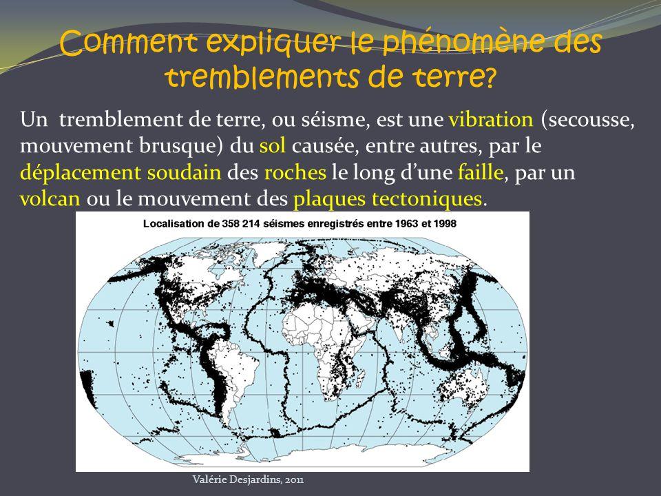 Comment expliquer le phénomène des tremblements de terre