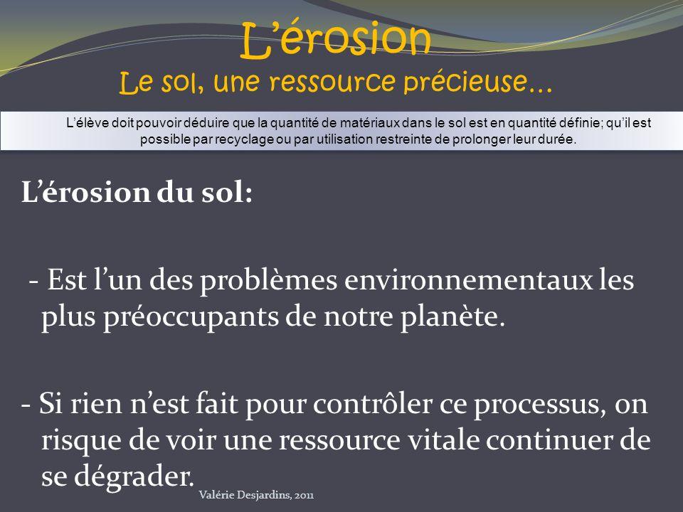 L'érosion Le sol, une ressource précieuse…