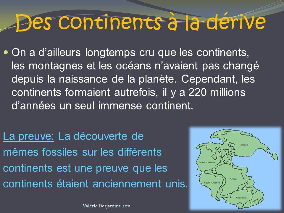 Des continents à la dérive