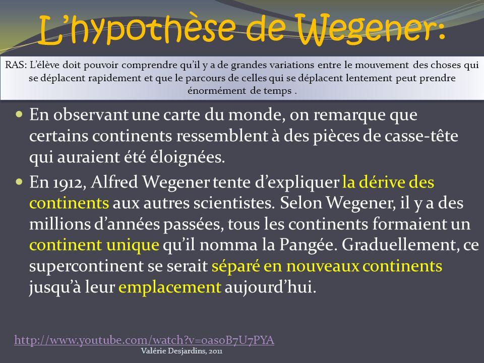 L'hypothèse de Wegener:
