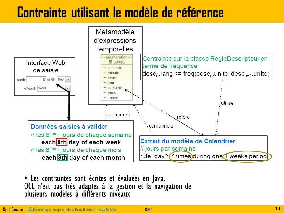 Contrainte utilisant le modèle de référence