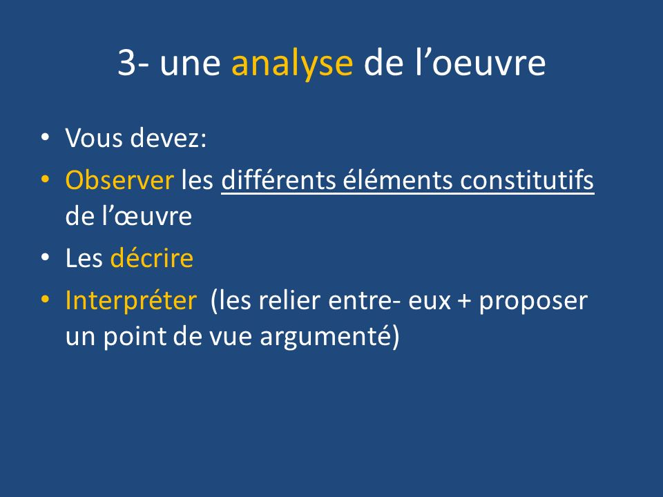 3- une analyse de l'oeuvre