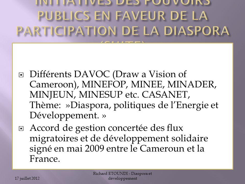 Richard ETOUNDI - Diaspora et développement