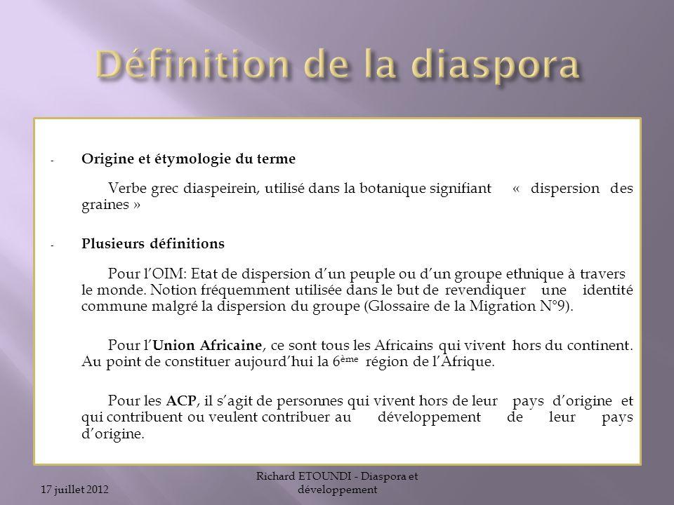 Définition de la diaspora