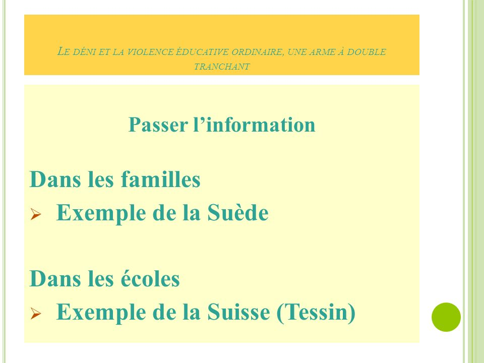 Exemple de la Suisse (Tessin)