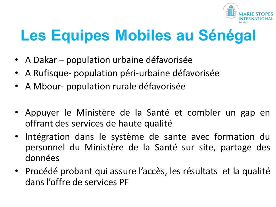 Les Equipes Mobiles au Sénégal