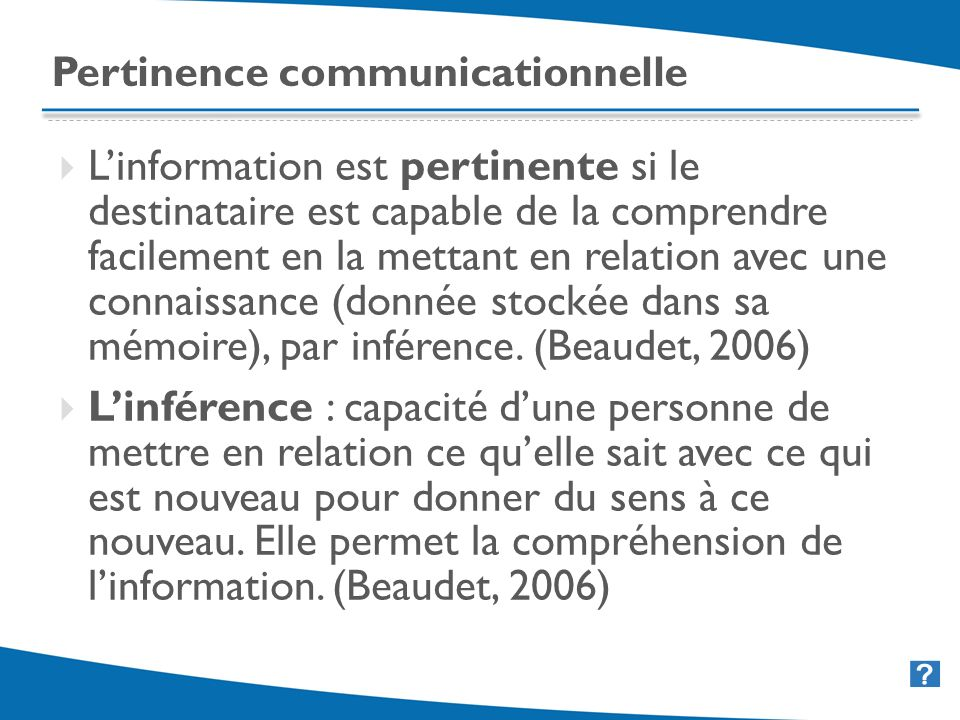 Pertinence communicationnelle