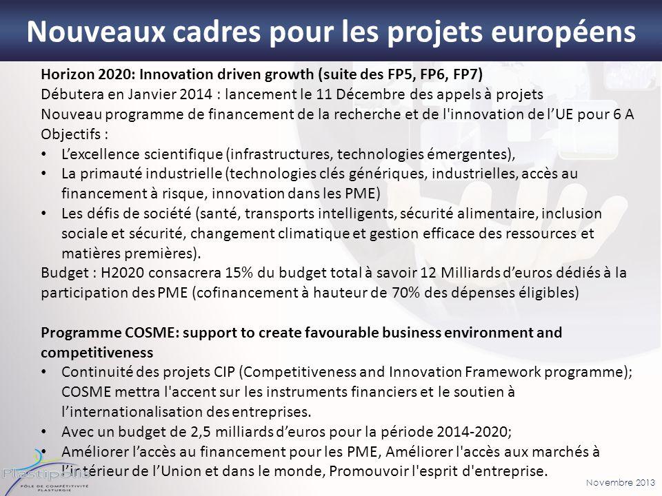 Nouveaux cadres pour les projets européens