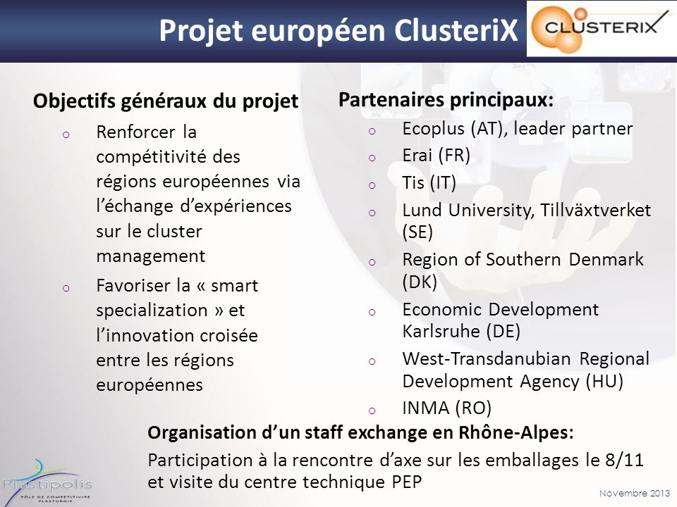 Projet européen ClusteriX