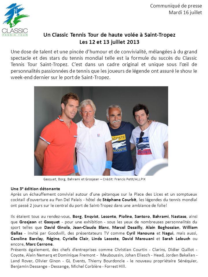 Un Classic Tennis Tour de haute volée à Saint-Tropez