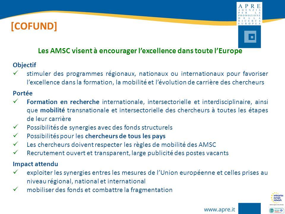 Les AMSC visent à encourager l'excellence dans toute l'Europe