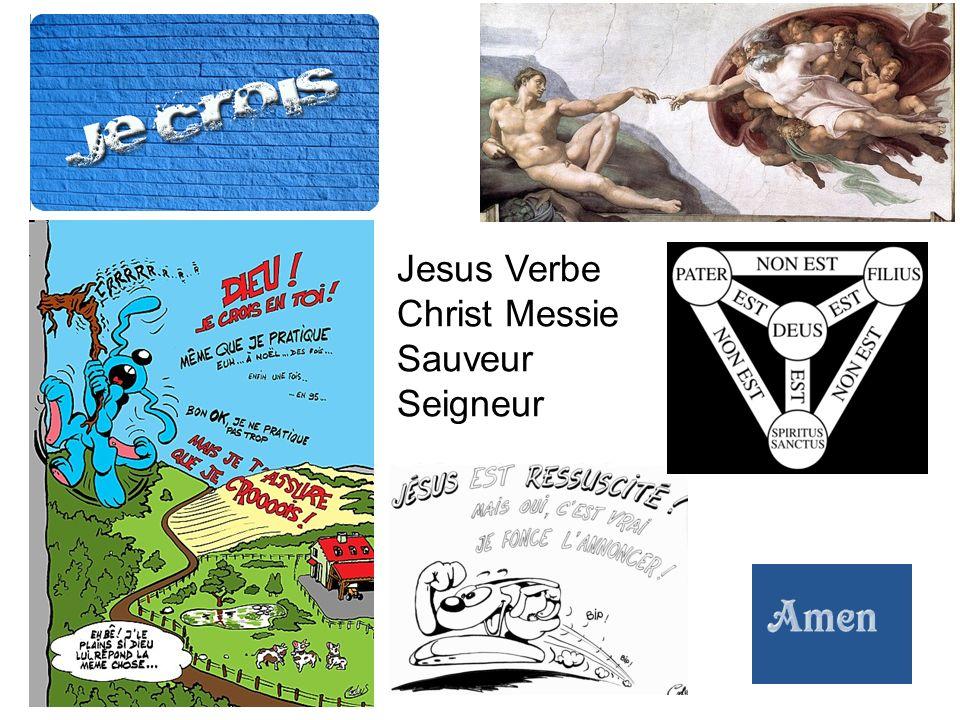 Jesus Verbe Christ Messie Sauveur Seigneur