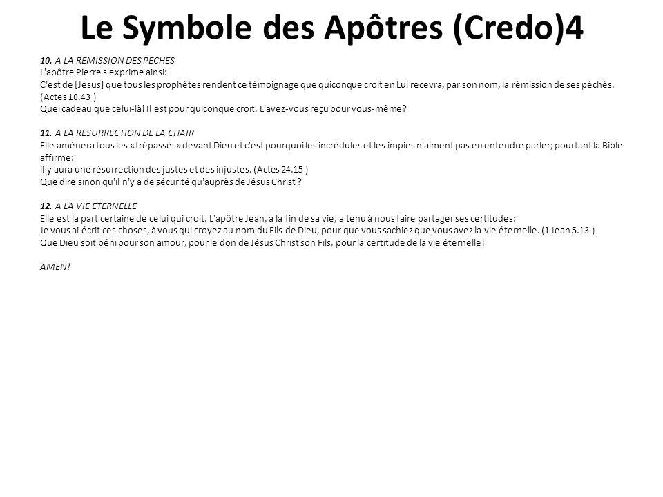 Le Symbole des Apôtres (Credo)4