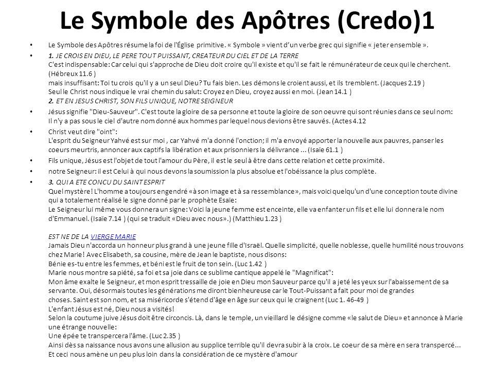 Le Symbole des Apôtres (Credo)1