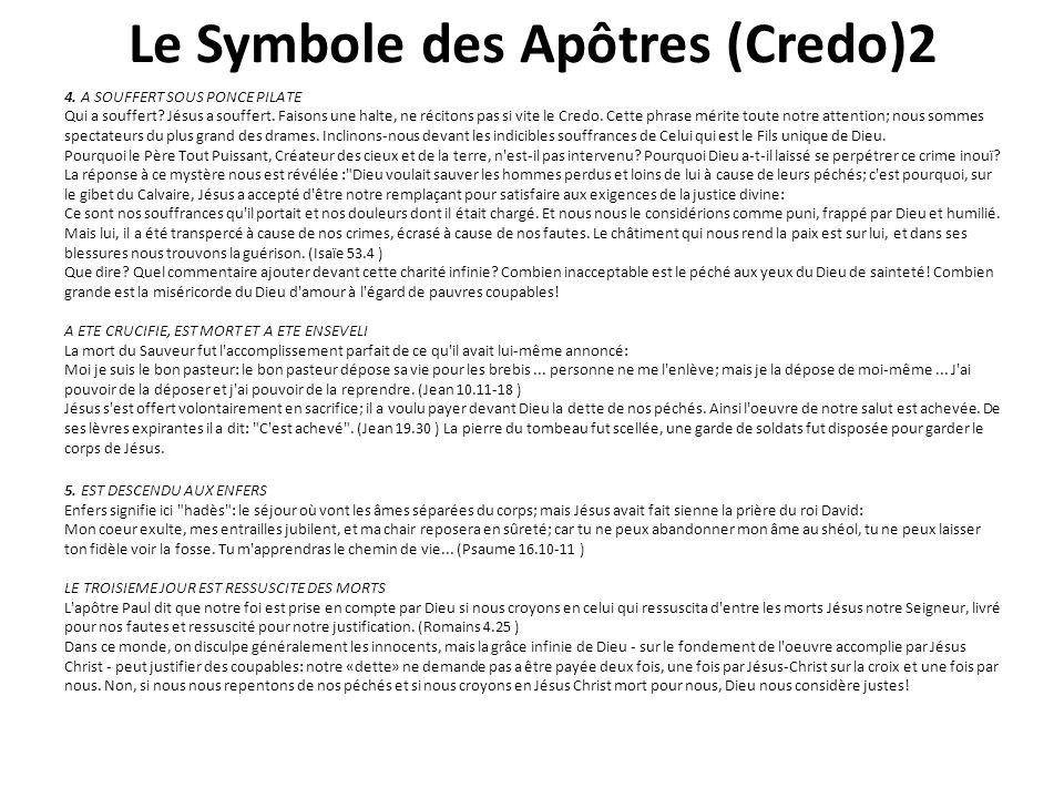 Le Symbole des Apôtres (Credo)2