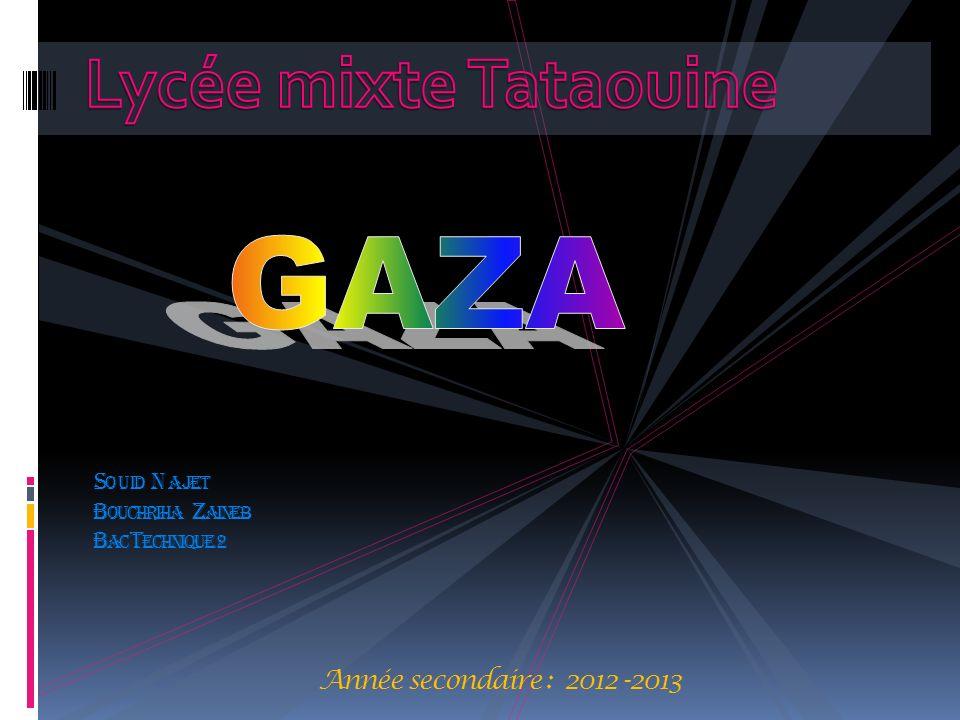 Lycée mixte Tataouine GAZA.