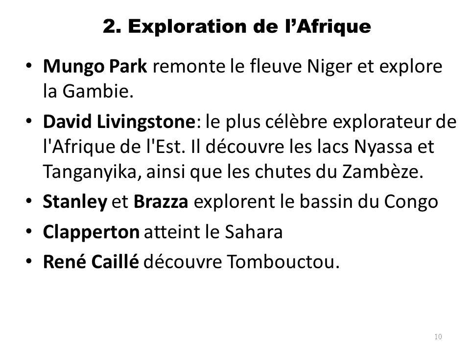 2. Exploration de l'Afrique