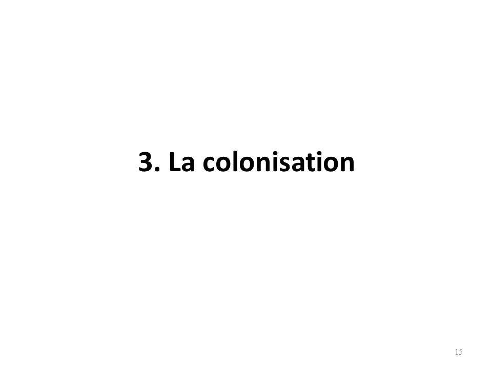 3. La colonisation