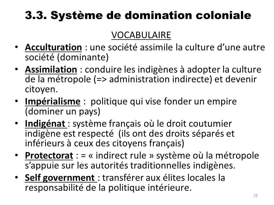 3.3. Système de domination coloniale