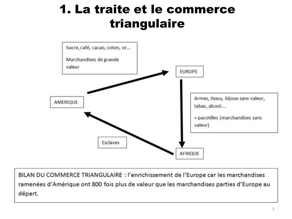 1. La traite et le commerce triangulaire