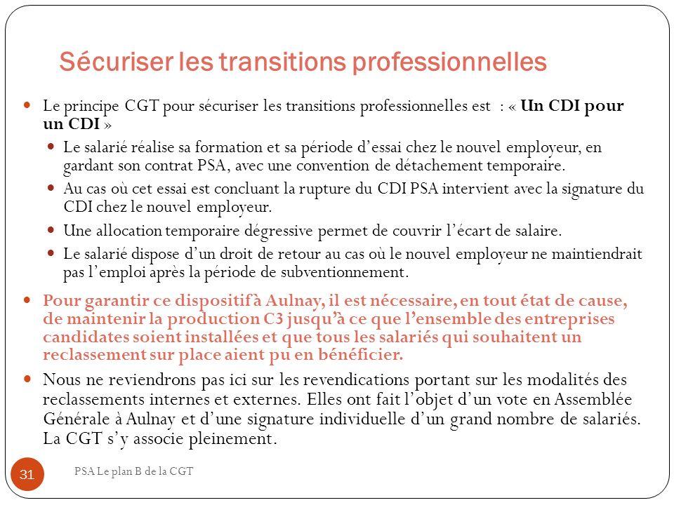 Sécuriser les transitions professionnelles