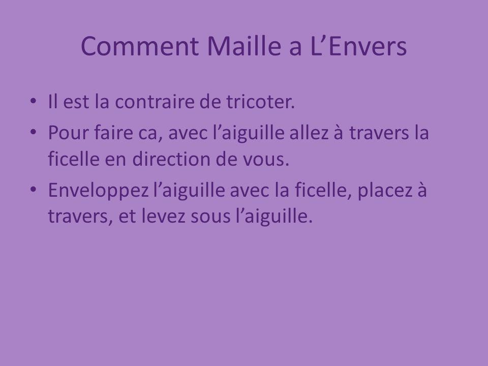 Comment Maille a L'Envers