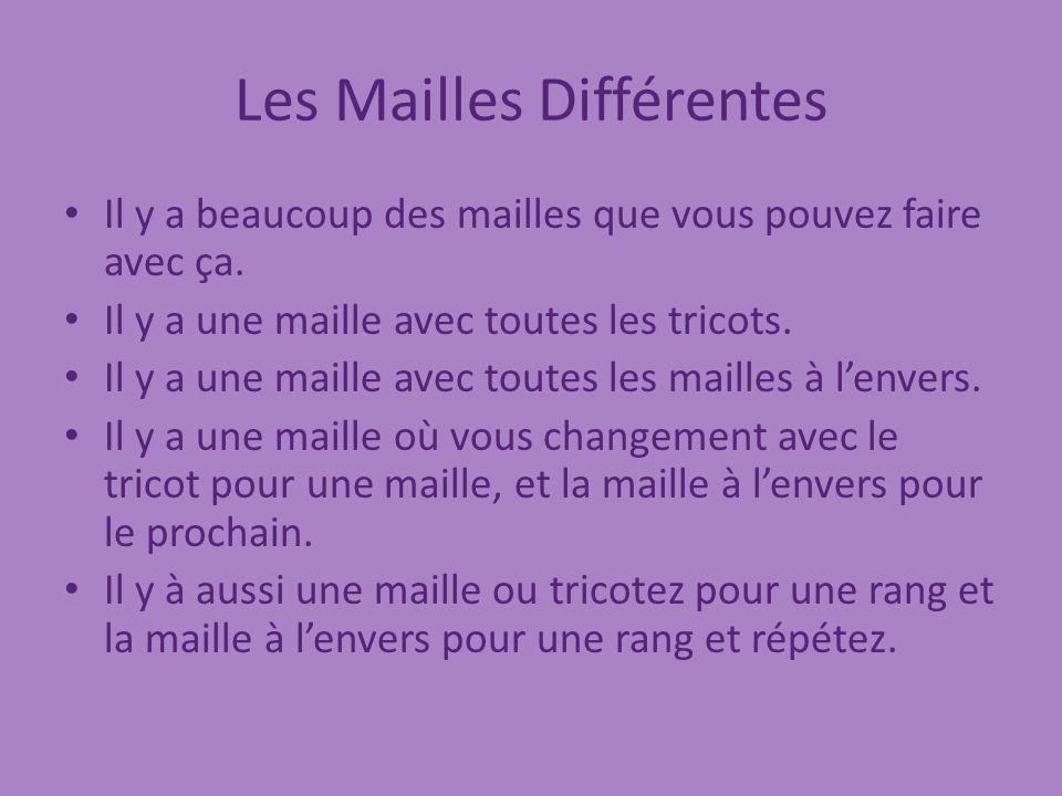 Les Mailles Différentes