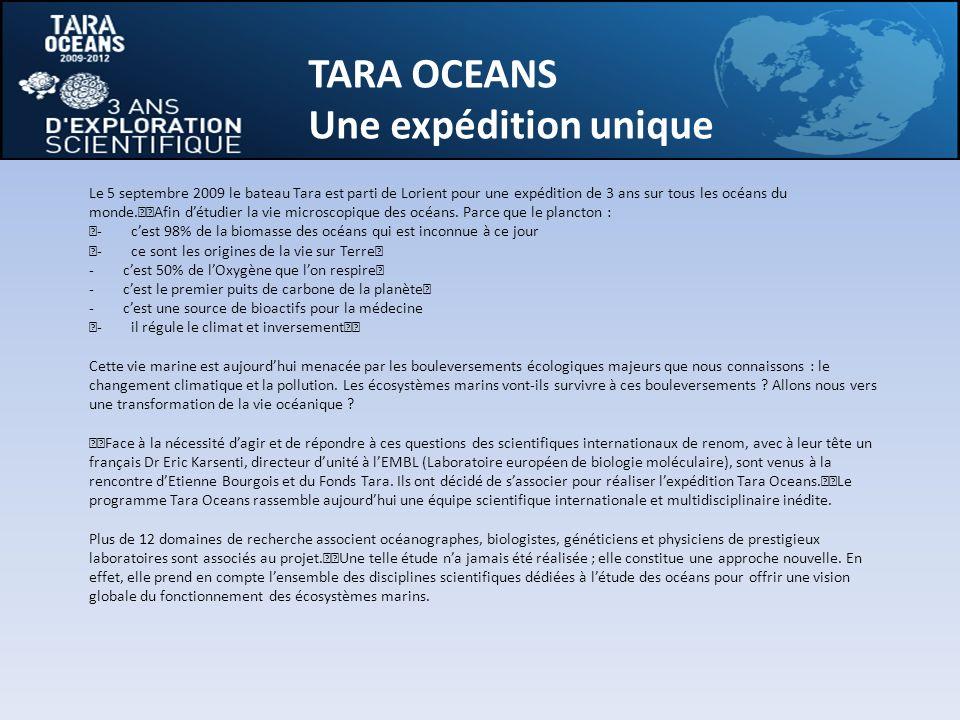 TARA OCEANS Une expédition unique