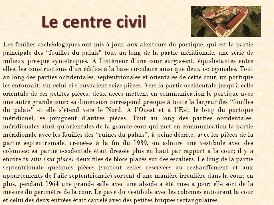 Le centre civil