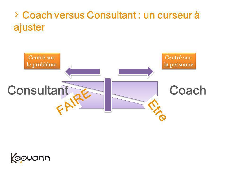Coach versus Consultant : un curseur à ajuster