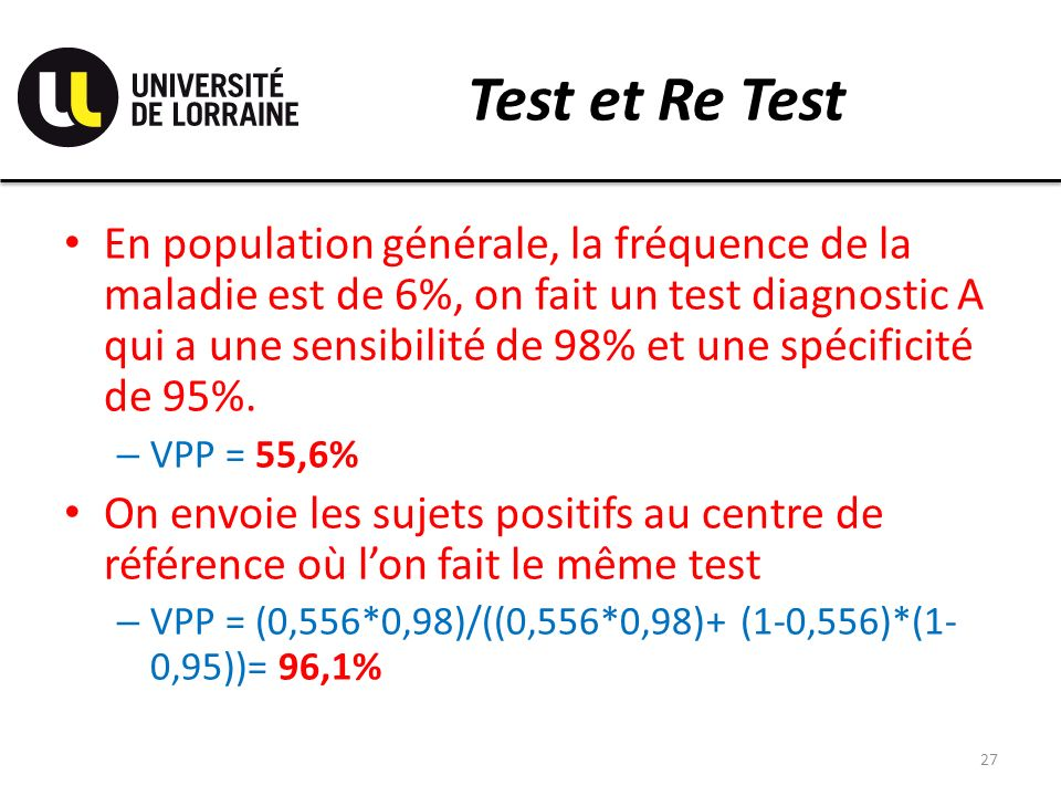 Test et Re Test