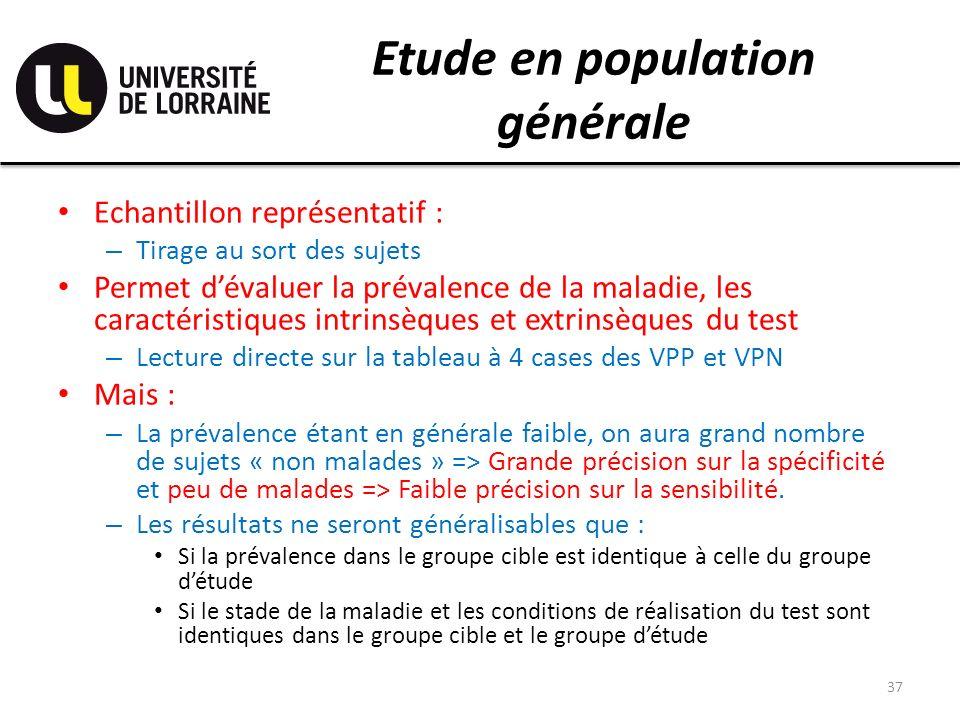 Etude en population générale