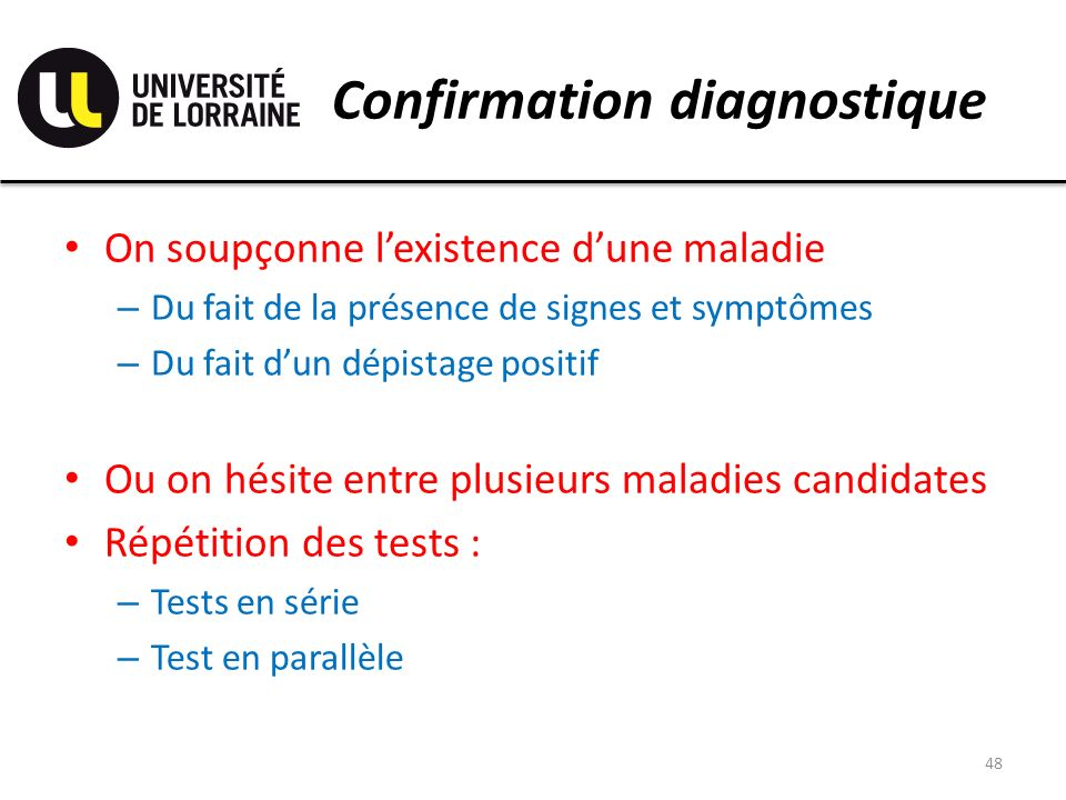 Confirmation diagnostique