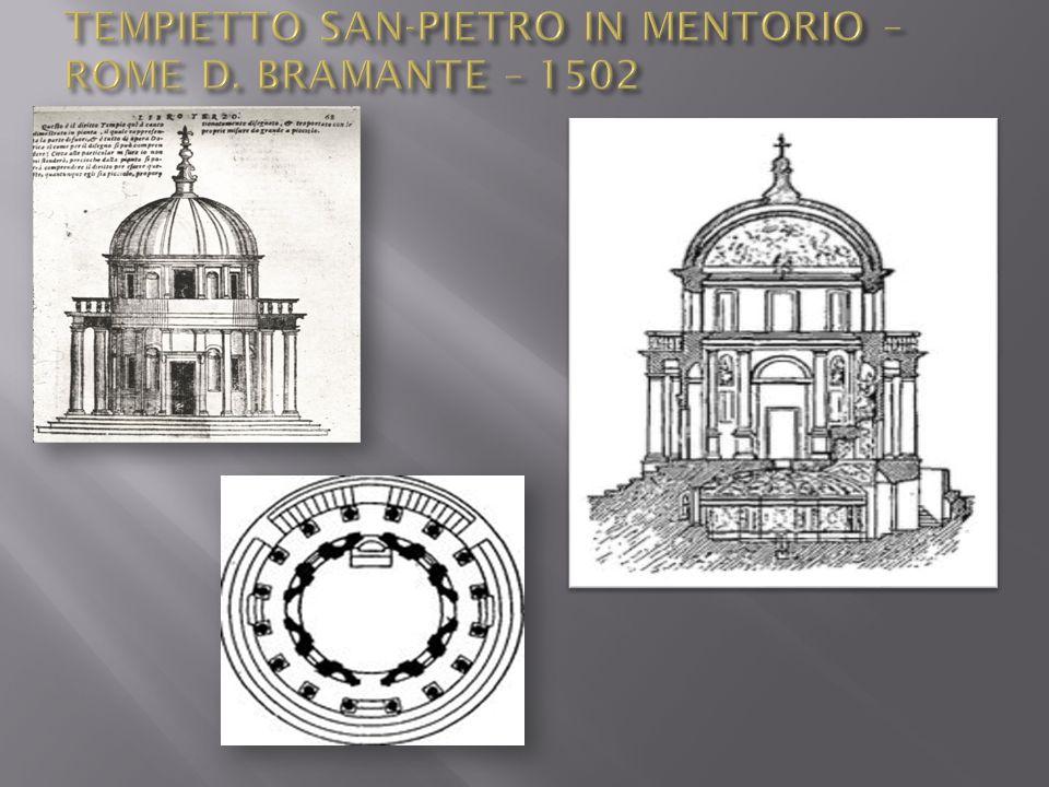 TEMPIETTO SAN-PIETRO IN MENTORIO – ROME D. BRAMANTE – 1502