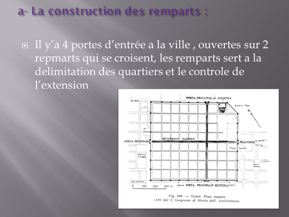 a- La construction des remparts :