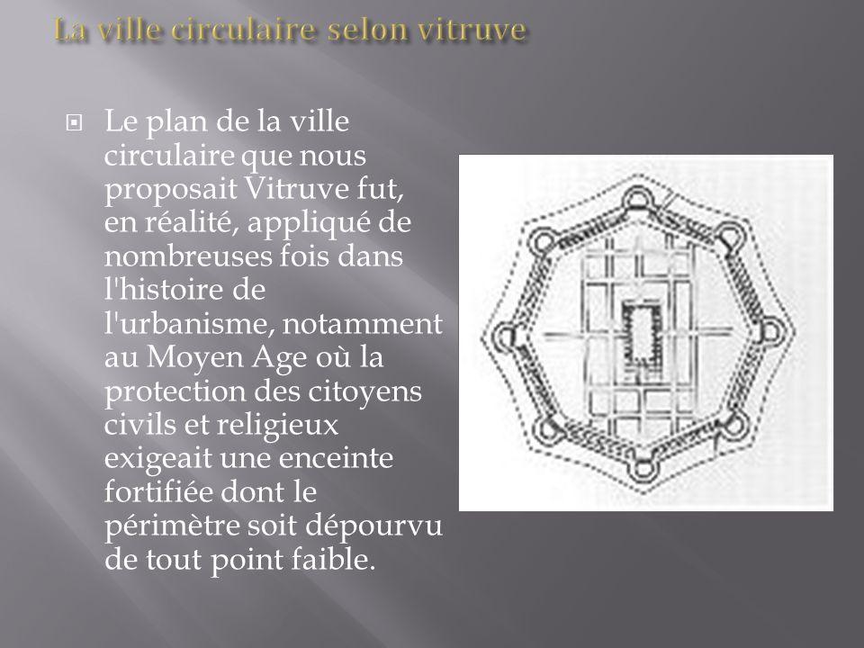 La ville circulaire selon vitruve