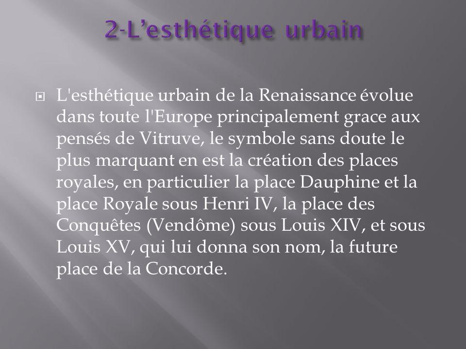 2-L'esthétique urbain