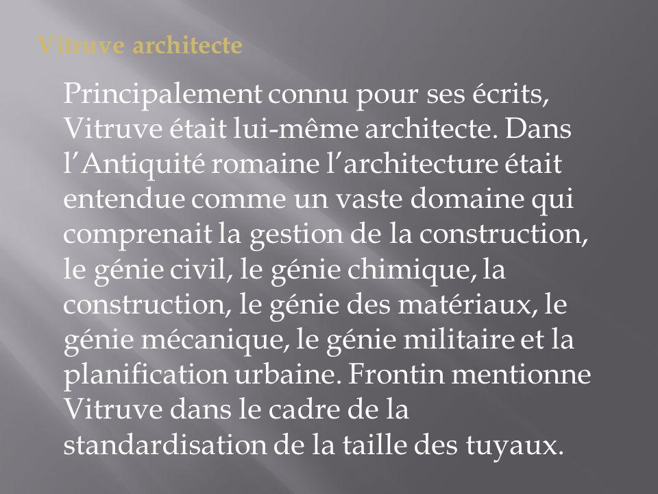 Vitruve architecte
